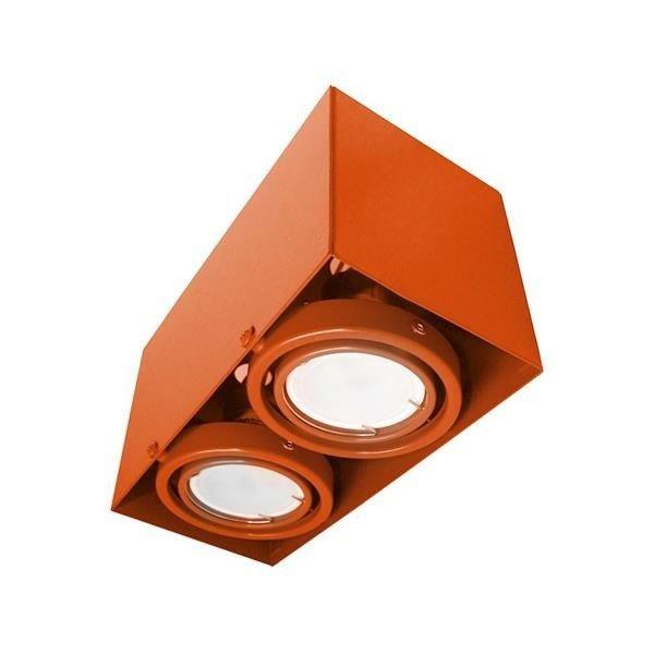 LAMPA SUFITOWA BLOCCO POMARAŃCZOWA 2x7W GU10 LED