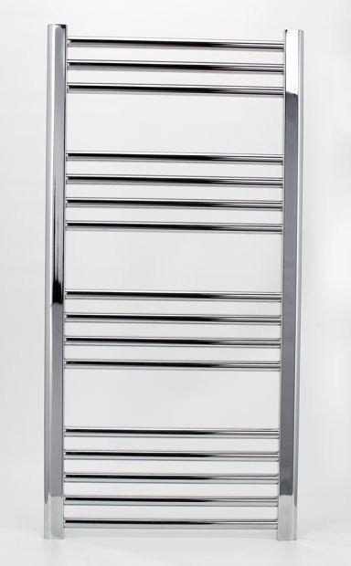 Grzejnik łazienkowy york - wykończenie proste, 500x1000, chromowany