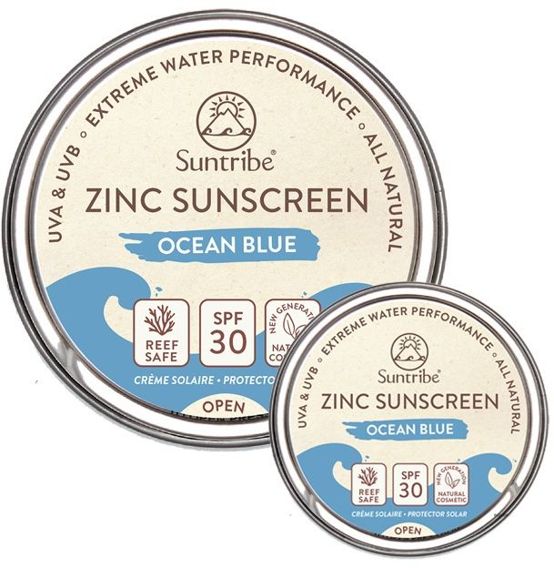Naturalny Krem  przeciwsłoneczny do twarzy i ciała SPF30 SunTribe 10g/45g Ocean Blue