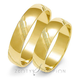 Obrączki ślubne Złoty Skorpion  wzór Au-A127