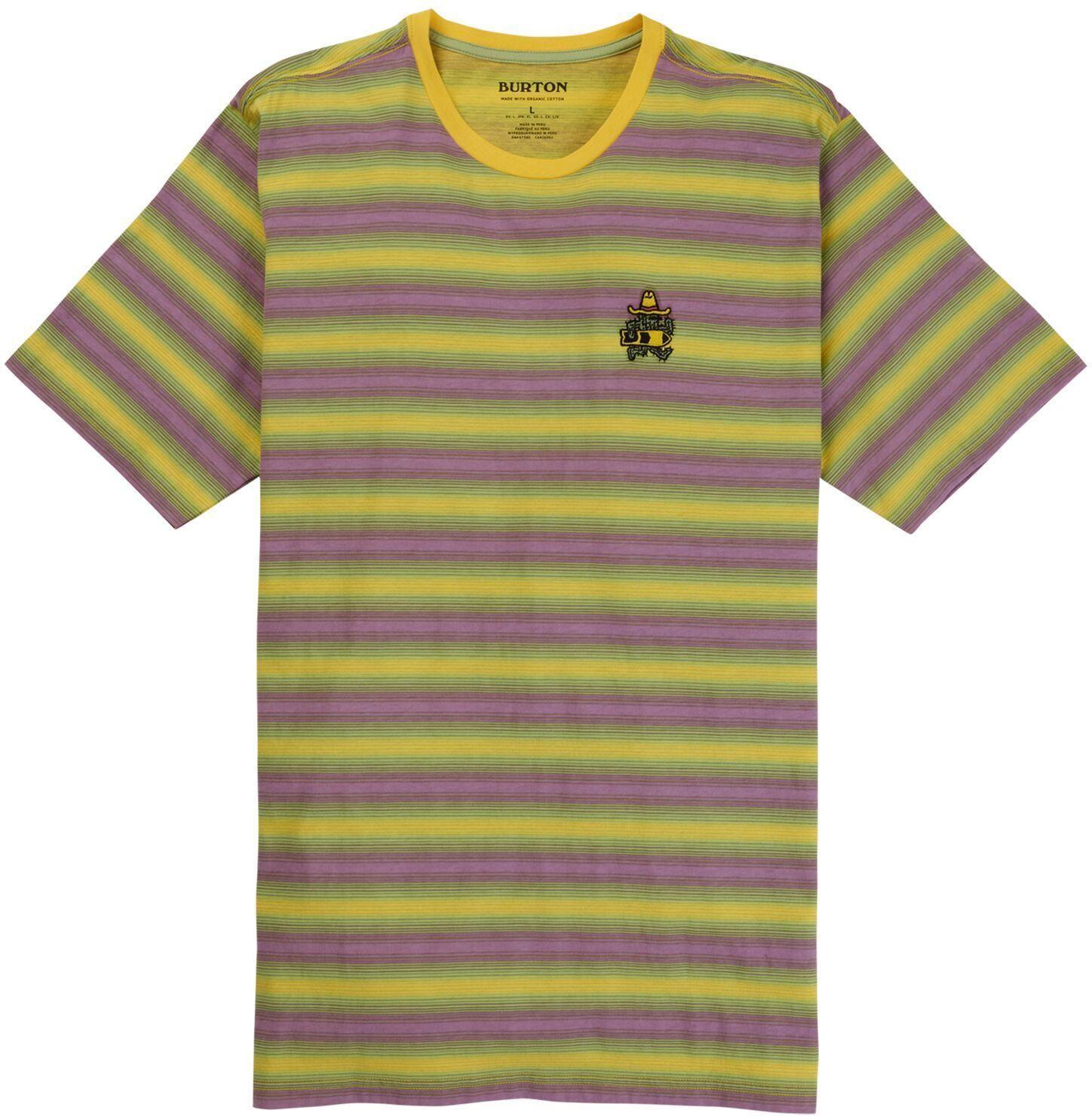 t-shirt męski BURTON SKRATCHPAD SS Yellow Pepper Stripe