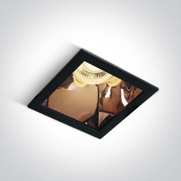 Oprawa podtynkowa czarny miedź Adamas kwadratowy wpust 50105M/B/CU - OneLight // Rabaty w koszyku i darmowa dostawa od 299zł !