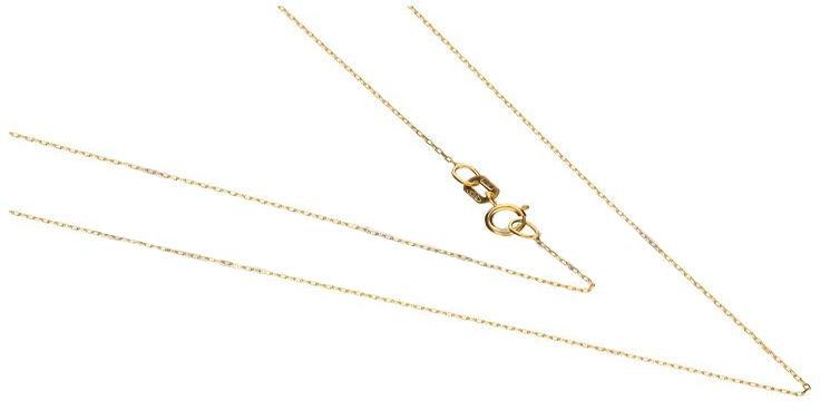 Złoty łańcuszek 585 splot ankier 45 cm 0,57 g