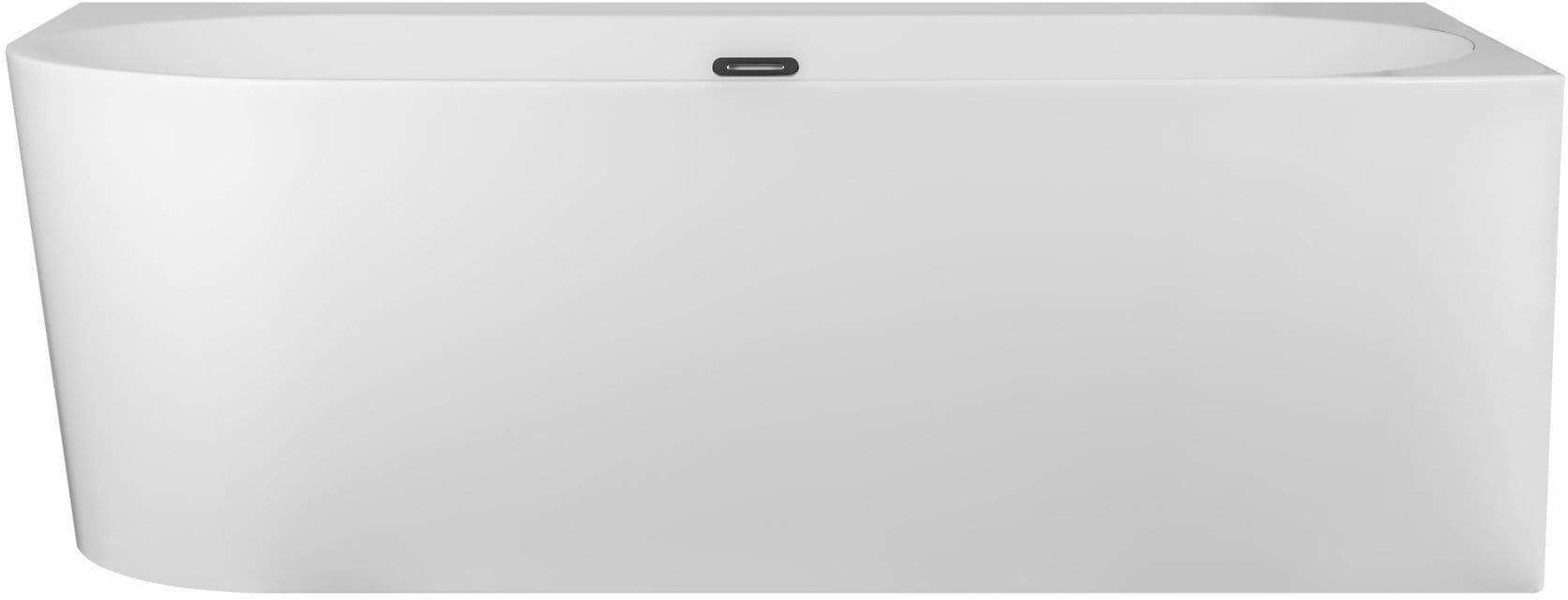 Corsan wanna narożna prawa przyścienna z półką akrylowa INTERO 170 x 80 cm E240XLP + syfon klik-klak/ biała wysyłka 24 h