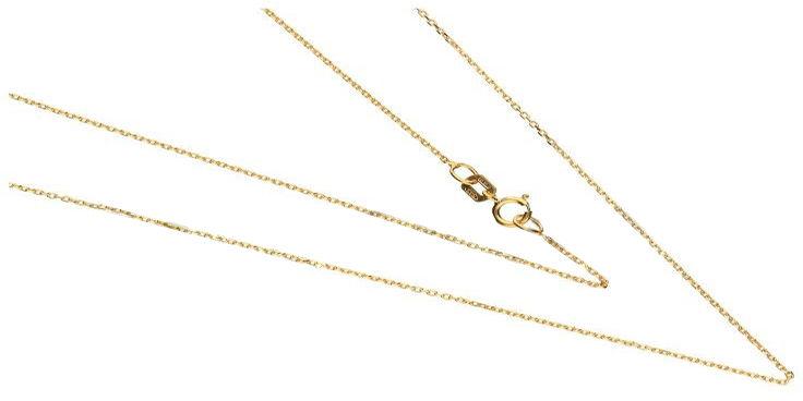 Złoty łańcuszek 585 splot ankier 45 cm 1 g