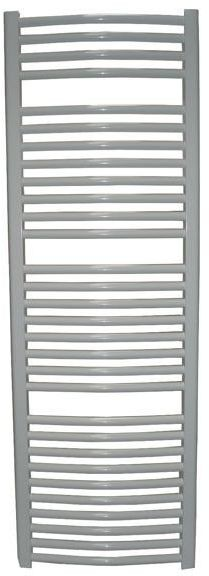 Grzejnik łazienkowy york - wykończenie zaokrąglone, 600x1200, biały/ral