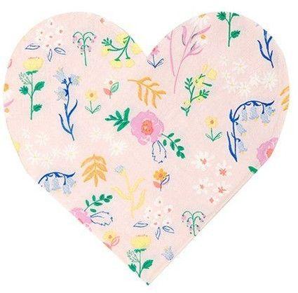 Meri Meri - Serwetki Serca Kwiatki