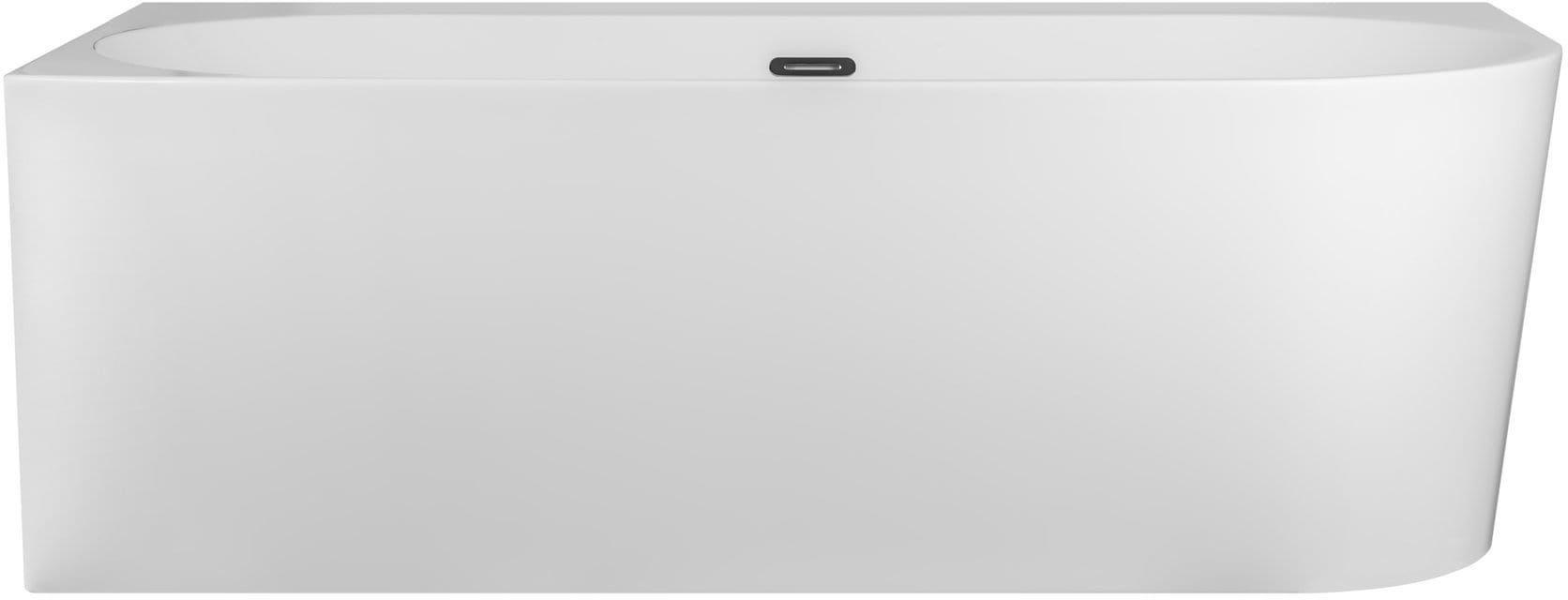 Corsan wanna narożna lewa przyścienna z półką akrylowa INTERO 160 x 74 cm E240L + syfon klik-klak/ biała