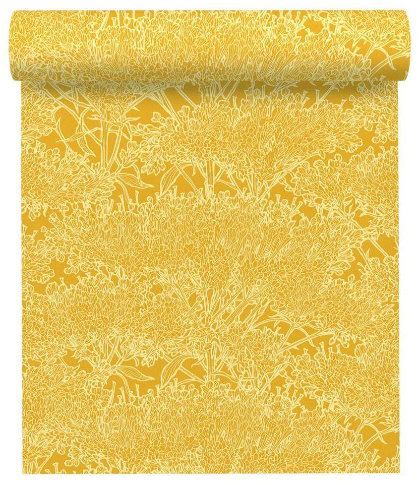 Tapeta Plantas żółta winylowa na flizelinie
