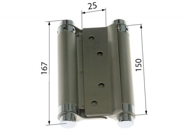 Zawiasa wahadłowa 150 mm STAL NIERDZEWNA nr 304