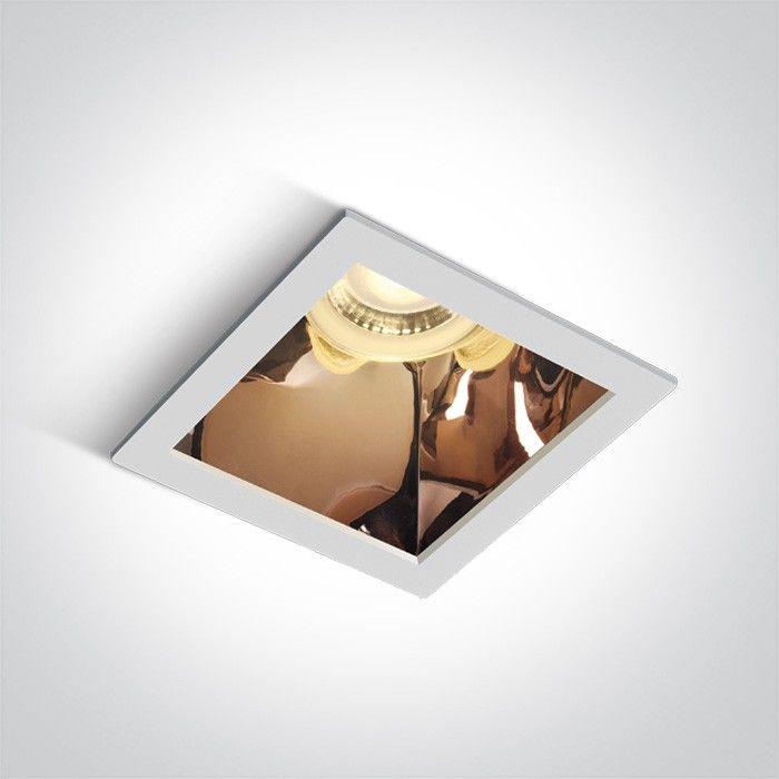 Oprawa podtynkowa Adamas biało miedziana kwadratowa wpust 50105M/W/CU - OneLight // Rabaty w koszyku i darmowa dostawa od 299zł !
