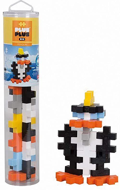 Plus-Plus 9603410 kreatywne klocki tube, Big Pingwin, genialna zabawka konstrukcyjna, 15 części