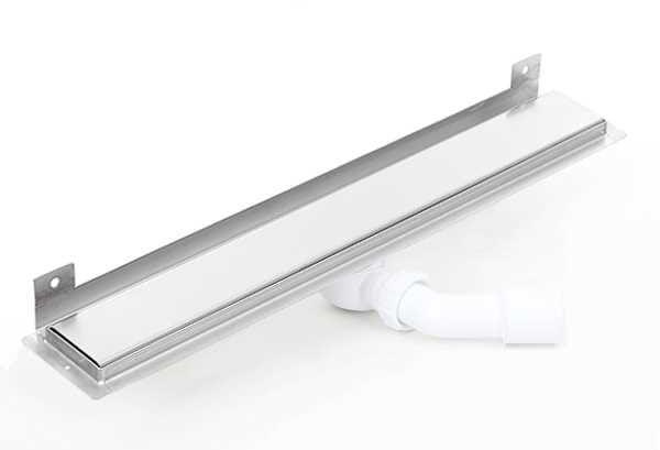 Kesmet Wall Silver Smooth odpływ ścienny 1100KWF_p 1100mm (syfon plastikowy)