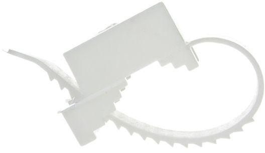 Uchwyt paskowy 9x60mm biały UP 22 12.1 /100szt./