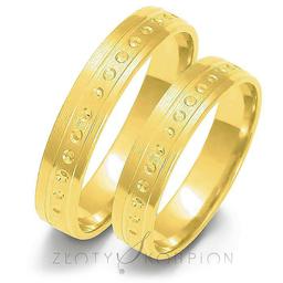 Obrączki ślubne Złoty Skorpion  wzór Au-O35