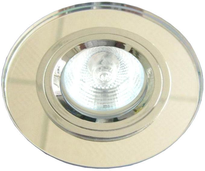 Candellux SS-15 CH/WH 2230484 oprawa do wbudowania oczko sufitowe chrom MR16 kwadratowa szkło przeźroczyste min. 6,4cm