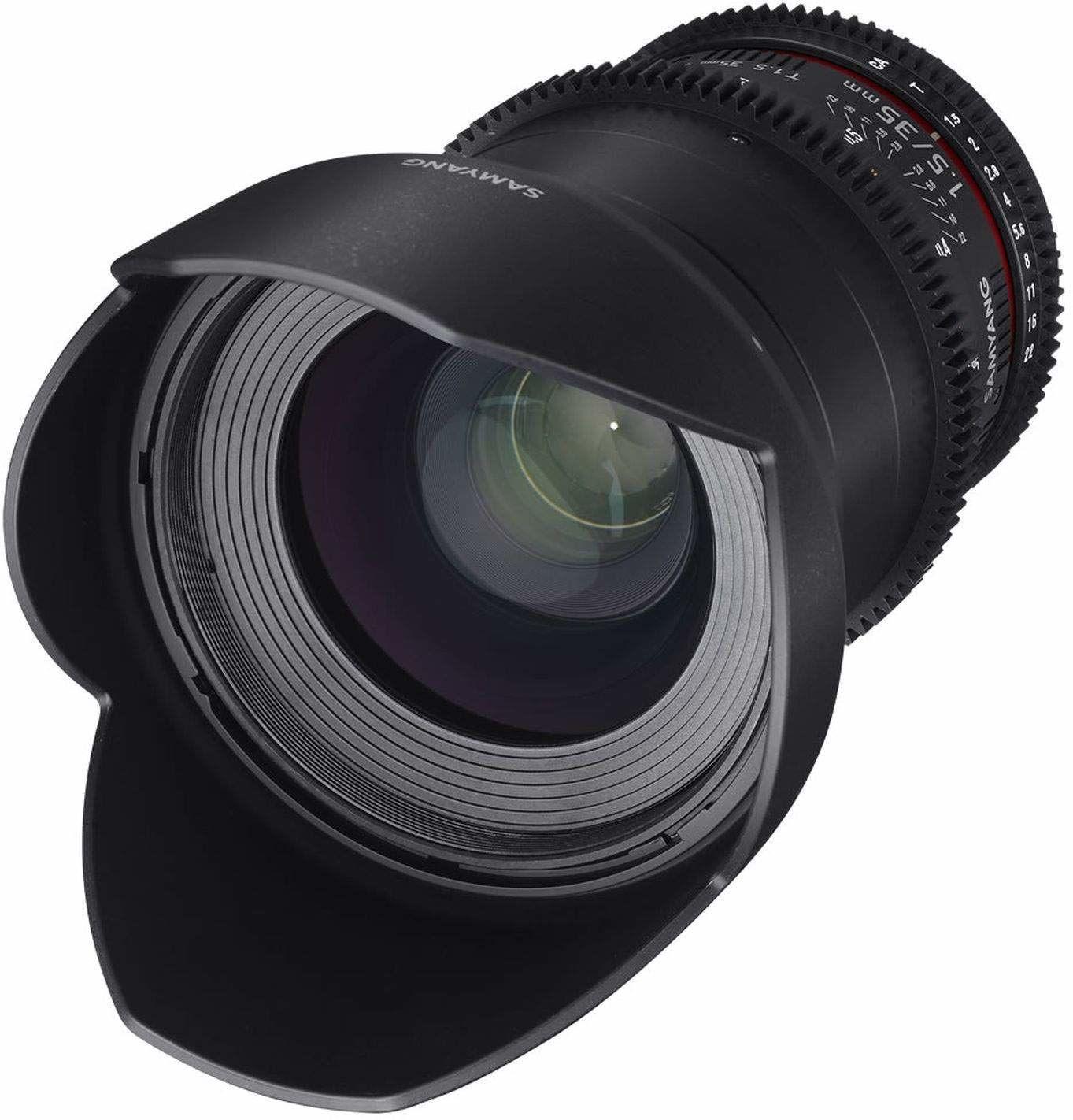 Samyang 35 mm T1.5 VDSLR II ręczny obiektyw wideo do kamery mikro cztery trzecie