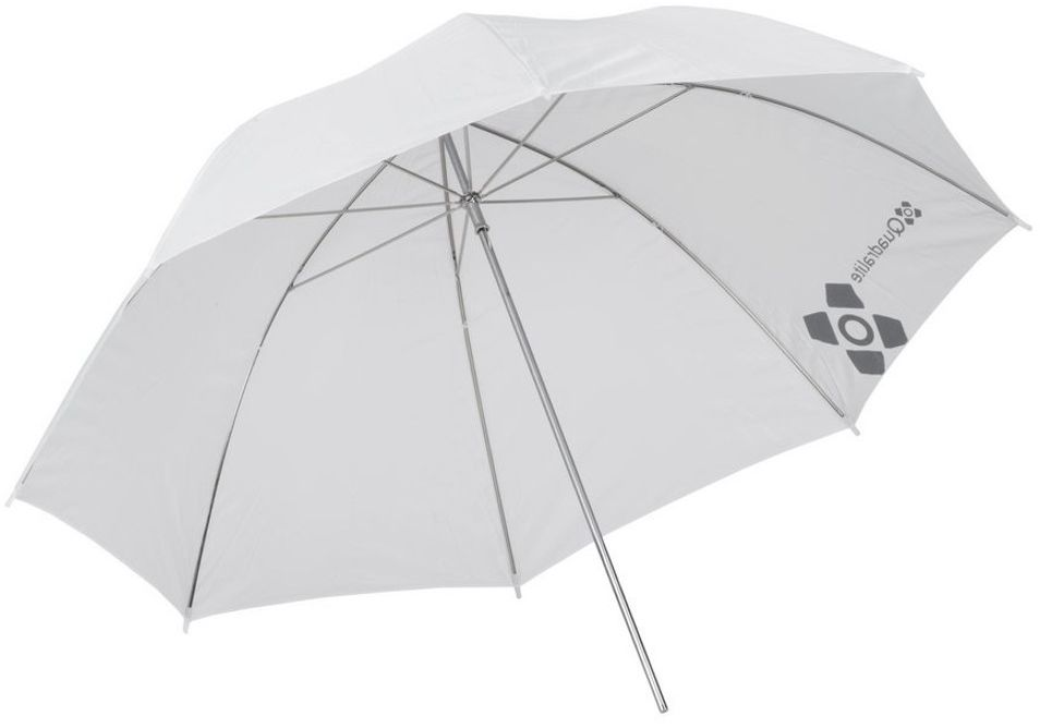 Parasolka biała przezroczysta 91cm Quadralite