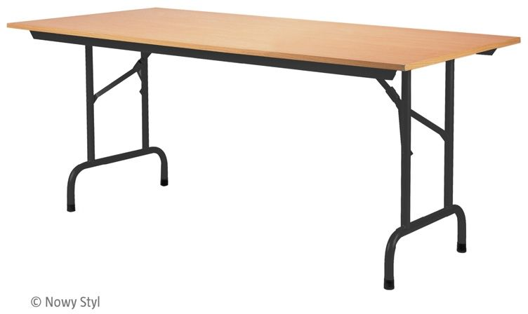 Stół konferencyjny składany RICO TALBE-4 BLACK (200x80 cm) Nowy Styl