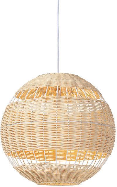 QAZQA Rustykalna lampa wisząca rattan - Rattan