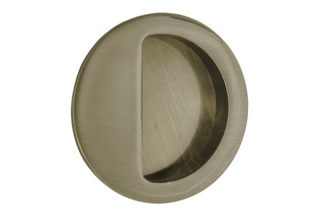 Uchwyt do drzwi przesuwnych wpuszczany okrągły B-HARKO R004AB fi50 mm, patyna
