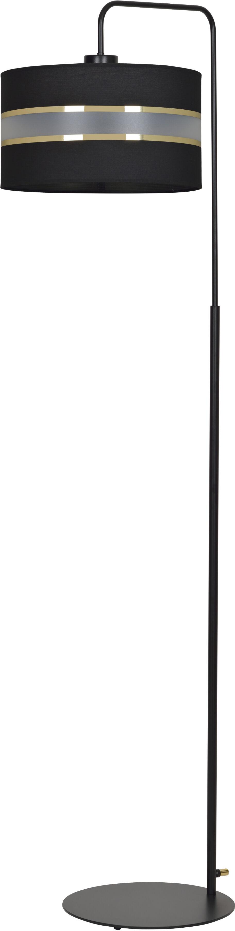 Emibig MOGI LP1 BLACK 601/LP1 lampa podłogowa metalowa duży czarny abażur elegancka 1x60W E27 150cm