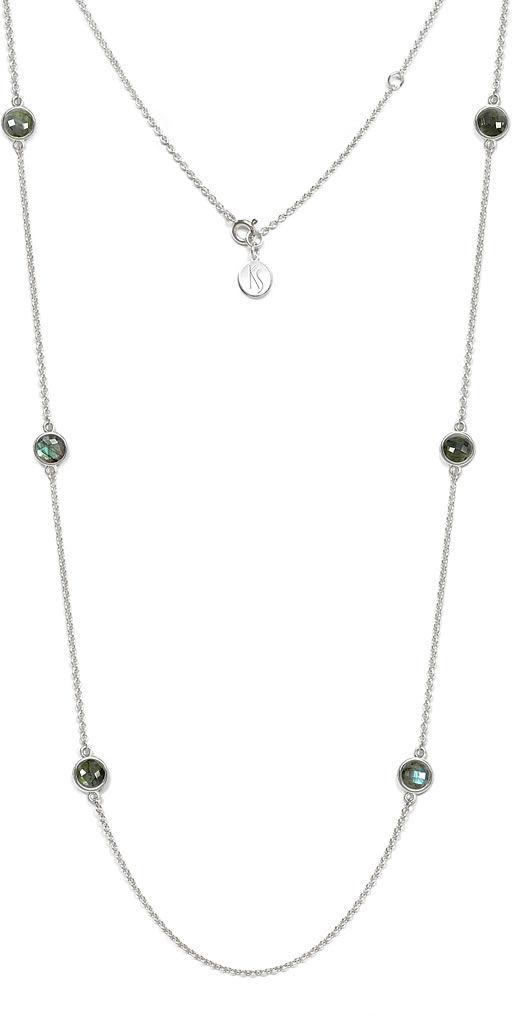 Kuźnia Srebra - Naszyjnik srebrny, 81cm, Labradoryt, 11g, model