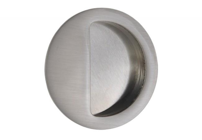 Uchwyt do drzwi przesuwnych wpuszczany okrągły B-HARKO R004SN fi50 mm, nikiel-satyna