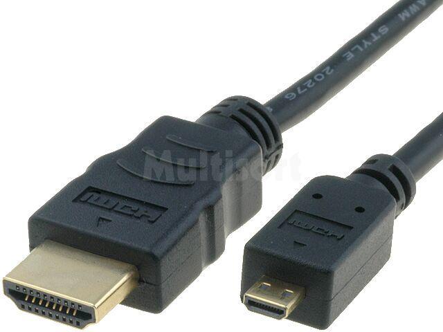 Kabel HDMI 1.4 GOOBAY HDMI micro wtyk / HDMI wtyk 1,5m czarny