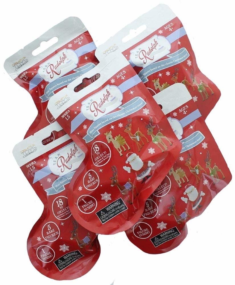 TEAM Rudolph REIN2 Rudolph czerwony renifer mini figurka - seria 1,5-5 sztuk foliowych toreb