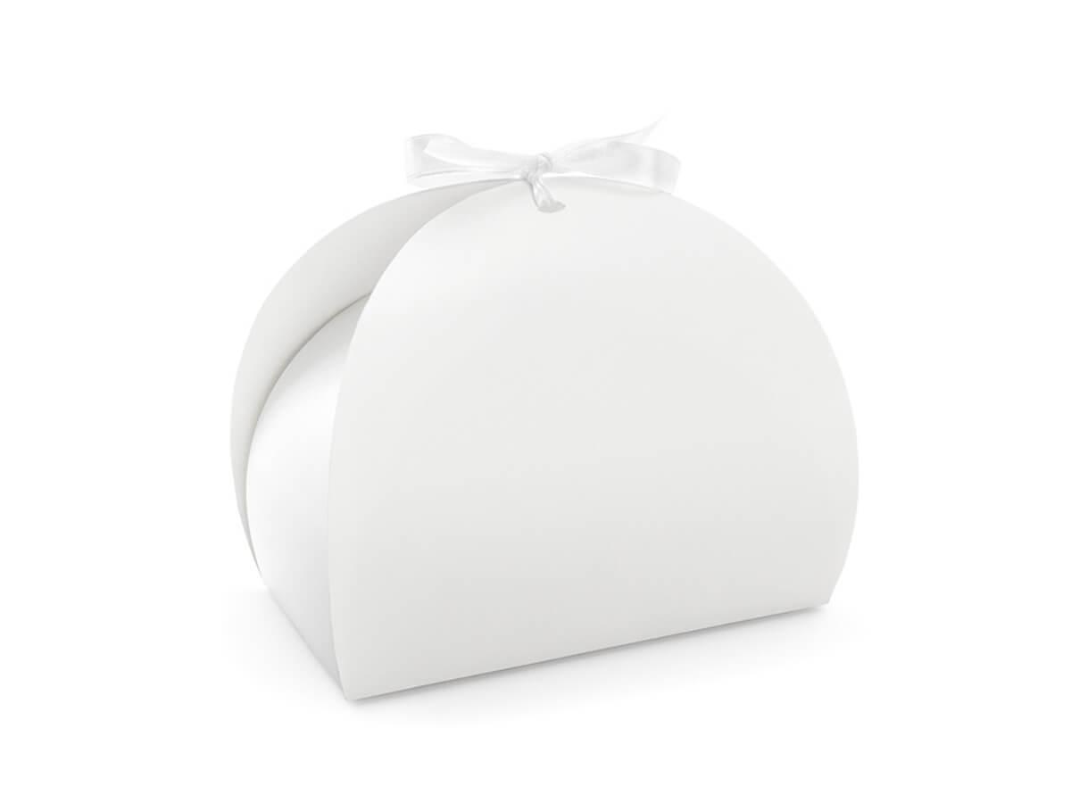 Ozdobne pudełko na ciasto białe - 10 szt.