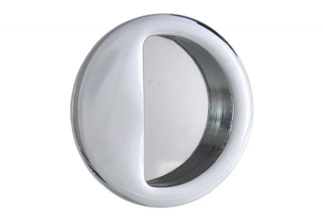 Uchwyt do drzwi przesuwnych wpuszczany okrągły B-HARKO R004CP fi50 mm, chrom