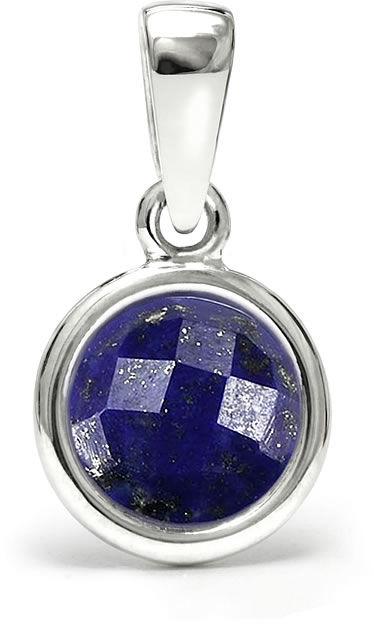 Kuźnia Srebra - Zawieszka srebrna, 17mm, Lapis Lazuli, 1g, model