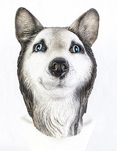 The Rubber Plantation TM 619219293488 syberyjska lateksowa maska malamute wilk pies psie zwierzęta Halloween akcesoria huskie, uniseks - dorosłych, jeden rozmiar