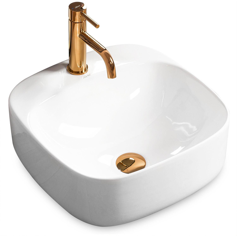 "Umywalka ceramiczna nablatowa Luiza 42x42 __DODATKOWE_5%_RABATU_NA_KOD_""REA"""