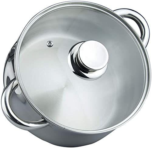MAGEFESA 01PXIDEOL20 01PXIDEOL20 garnek do gotowania, 20 cm, ze szklaną pokrywką, garnek do gotowania, 20 cm