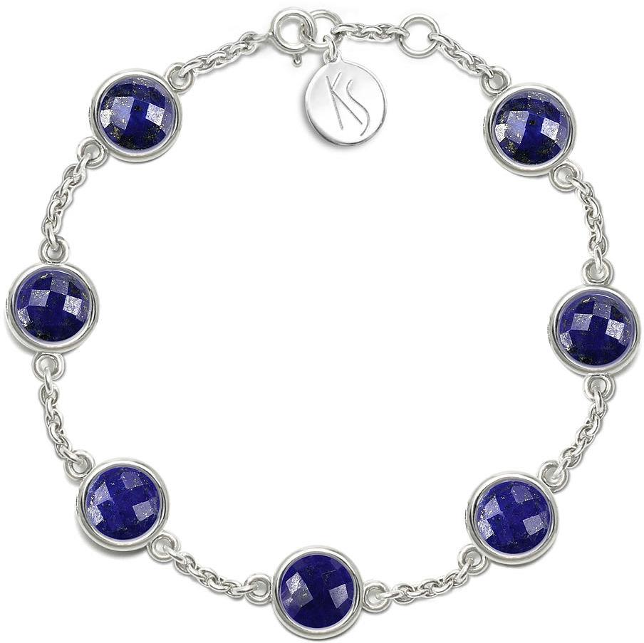 Kuźnia Srebra - Bransoletka srebrna, 18/19cm, Lapis Lazuli, 7g, model