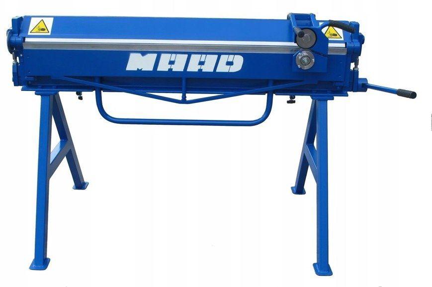 MAAD ZG-1400/1.5 ZAGINARKA GIĘTARKA KRAWĘDZIARKA DEKARSKA DO BLACHY MAAD ZG-1400/1.5