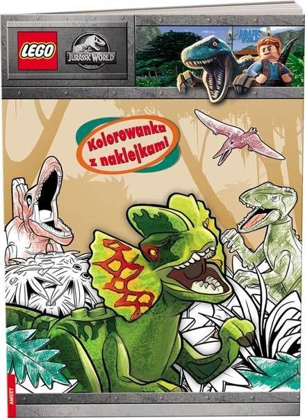 Lego Jurassic World. Kolorowanka z naklejkami - praca zbiorowa