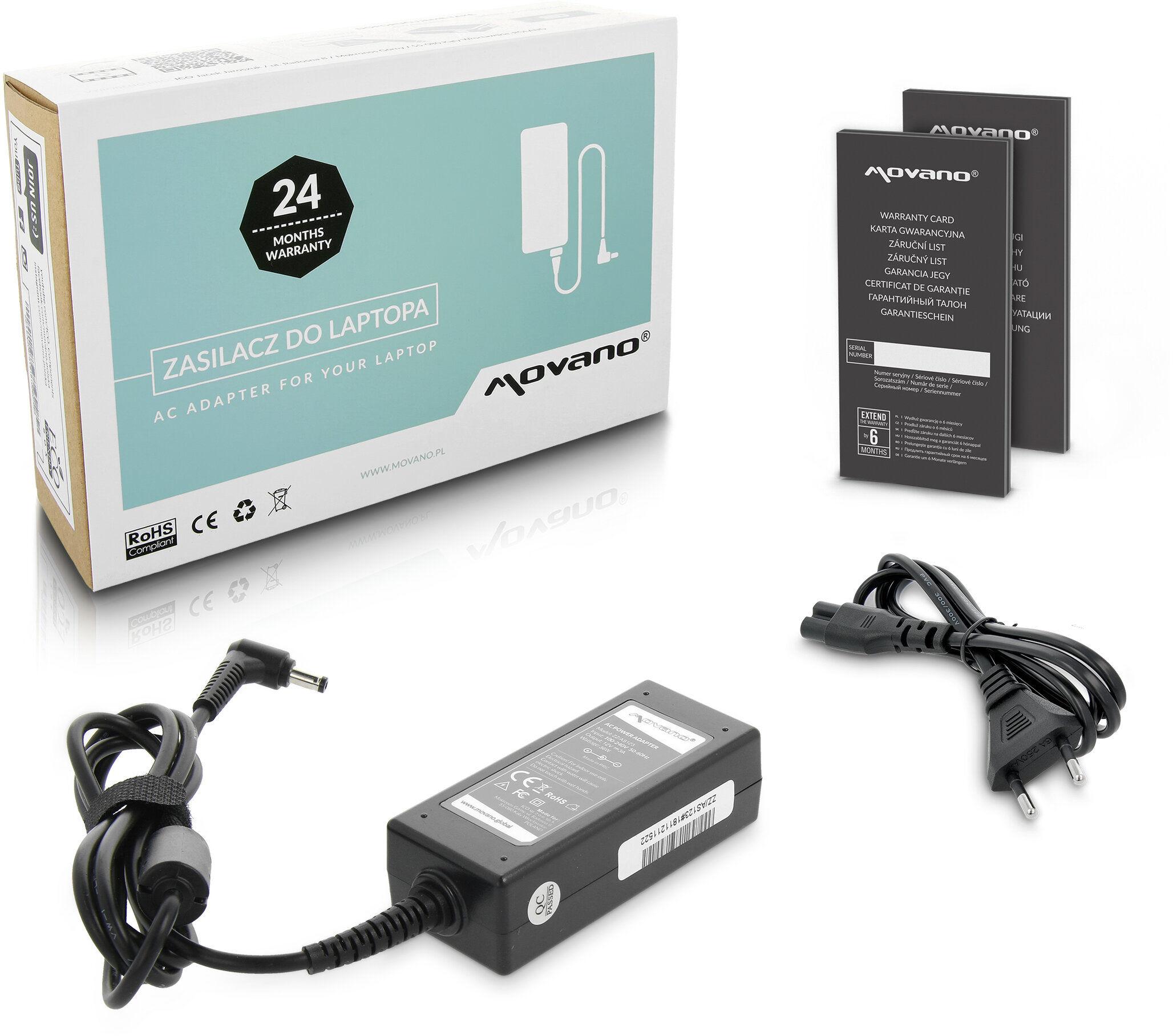 Zasilacz Asus eee PC 12V 3A 36W (1.7x4.8) ADP-36EH SMQ2175 Movano