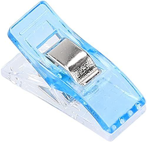 mumbi 30716 klamerki do materiału, tworzywo sztuczne, niebieskie, 100 sztuk