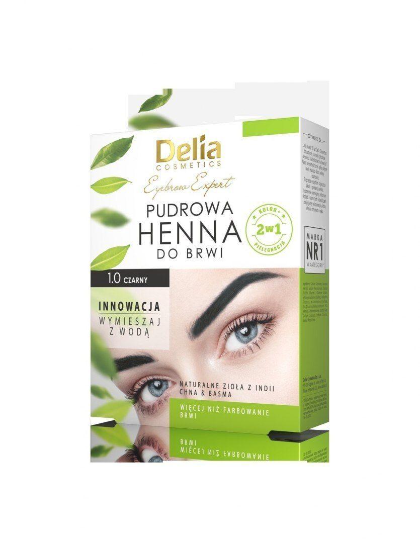 Delia Delia Cosmetics Henna do brwi pudrowa 1.0 czarna 4g