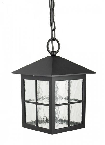 Zewnętrzna lampa wisząca do ogrodu Wenecja K 1018/1/KW czarny