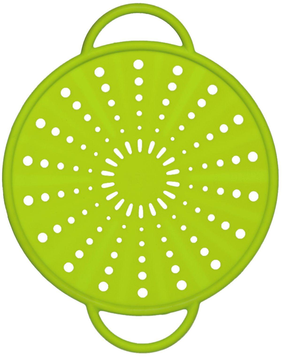 Emsa 514556 ochrona przed pryskaniem, Ø 21 cm, silikonowa, zielona, Smart Kitchen