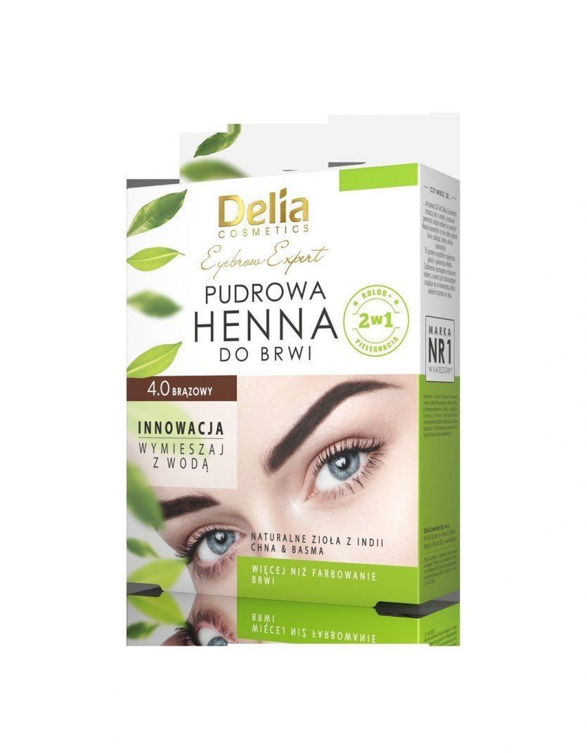 Delia Delia Cosmetics Henna do brwi pudrowa 4.0 brązowa 4g