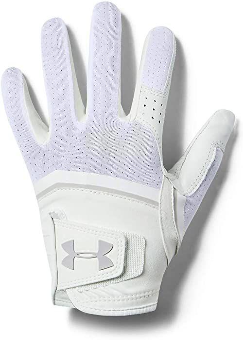 Under Armour Damskie rękawiczki Coolswitch do golfa, białe/aluminiowe, RLG