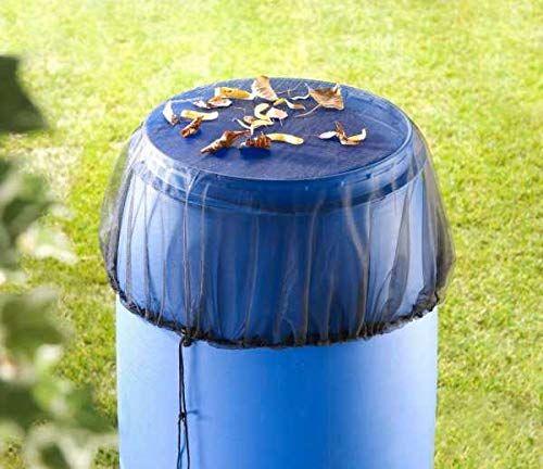 WENKO Siatka na deszczówkę  z praktycznym ściągaczem, poliester, 95 x 95 cm, czarna