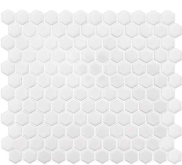 DUNIN Mini Hexagon White mozaika ceramiczna