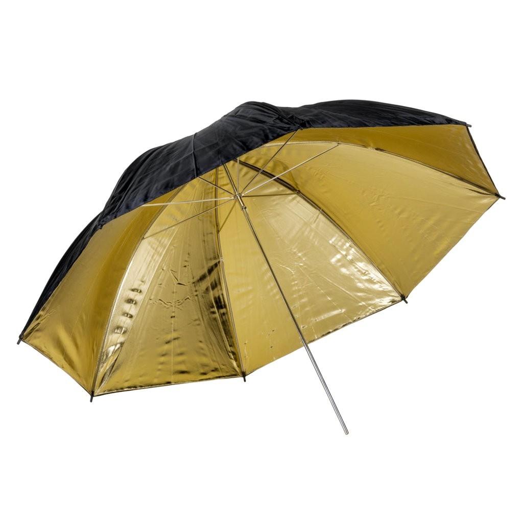 Parasolka złota Quadralite 91cm