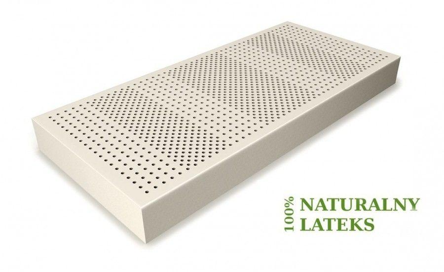 Materac lateksowy 100% Li średniotwardy 140 x 200